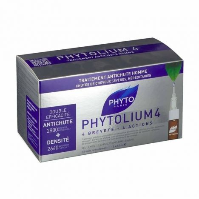 Phyto Phytolium 4 Anticaída Hombre Ampollas 12x3,5 ml