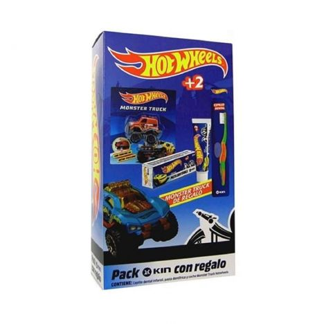 Kin Pack Hot Wheels Cepillo + Pasta 50 ml + Regalo Coche