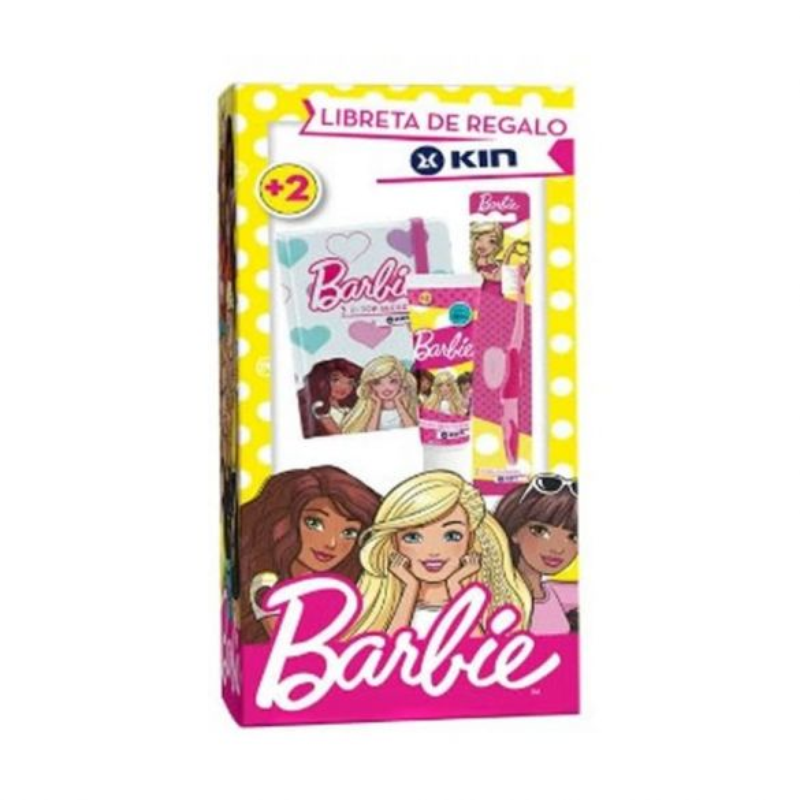 Kin Pack Barbie Cepillo + Pasta 50 ml + Regalo Libreta