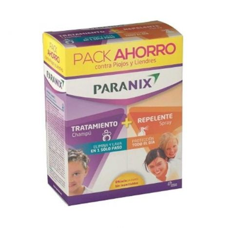 Paranix Pack Ahorro Champu 200 ml + Spray Repelente 100 ml