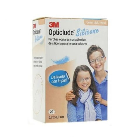 3M Opticlude Silicona Maxi 20 Parches Oculares