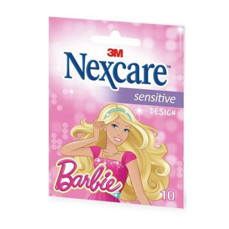 3M Nexcare Tiritas Sensitive Design Barbie 10 Unidades