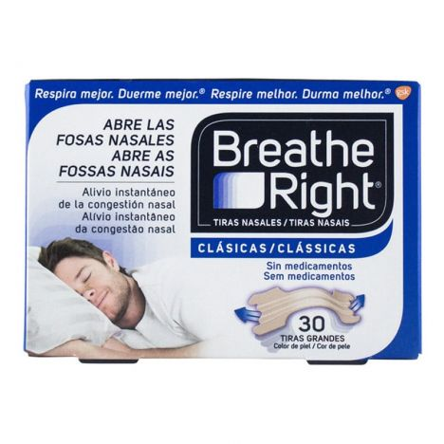 Breathe Right Tiras Clasicas Grandes 30 Unidades