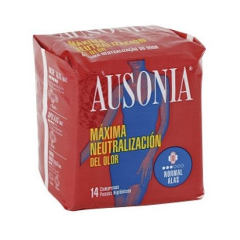 Ausonia Compresas Air Dry Alas Normal 14 Uds