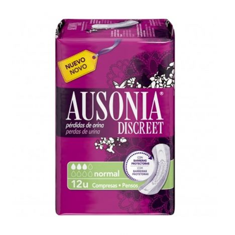 Ausonia Compresas Discreet Normal 12 Uds