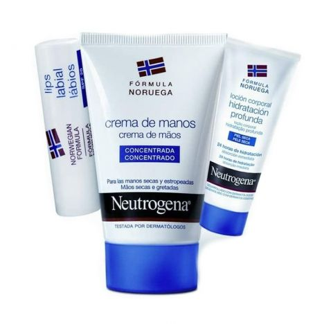 Neutrogena Manos 50ml + Labial +Locion Hidratante 15ml