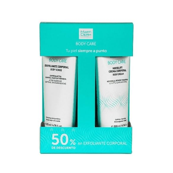 Martiderm Duplo Body Care Modelift Crema 200ml + Exfoliante 50ml