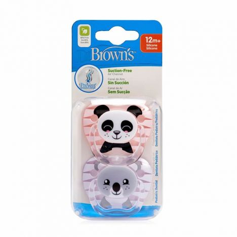 Dr Brown´S Chupete Prevent Silicona +12 Meses Rosa 2 Uds