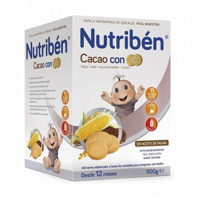Nutriben Cereales Con Cacao Y Galletas Maria 500Gr