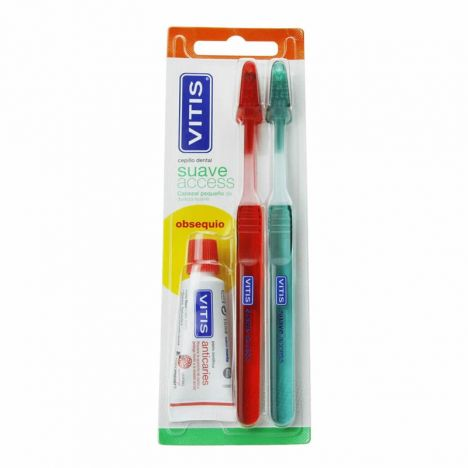 Vitis Cepillo Dental Acces Suave Duplo + Pasta 15ml