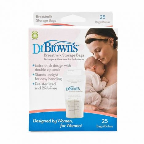 Dr Brown'S Bolsas Leche Materna 25 Uds