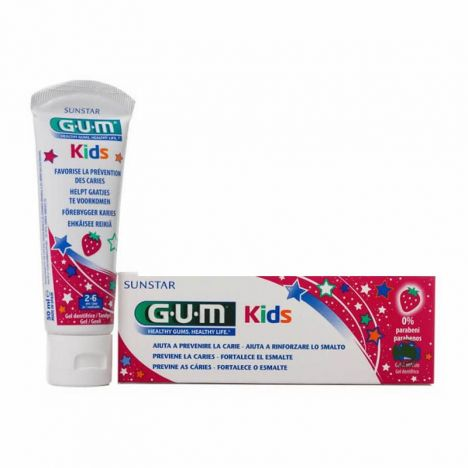 Gum Kids Gel Dentífrico Sabor Fresa 2-6 Años 50ml