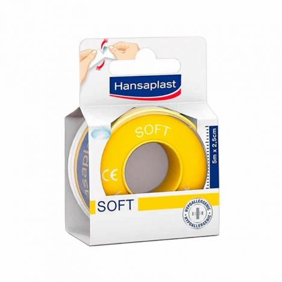 Hansaplast Esparadrapo Soft 5m X 2,5cm