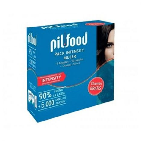 Pilfood Pack Intensity Mujer 15 Ampollas + 90 Capsulas + Champu 200ml