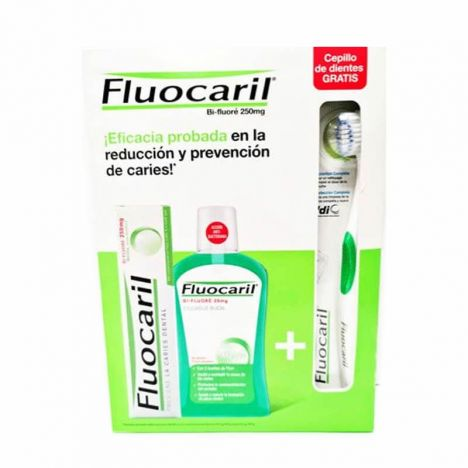 Fluocaril Pack Pasta Dentifrica 125ml + Colutorio 500ml + Cepillo De Dientes