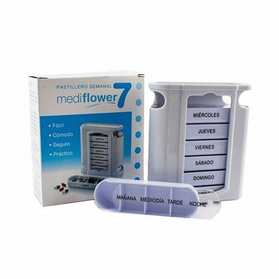 Mediflower Pastillero Semanal Con 7 Modulos