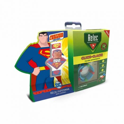 Relec Pulsera Click-Clack Superman Anti-Mosquitos Set De 3 Piezas